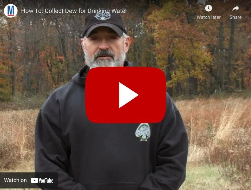 How To: Collect Dew for Drinking Water