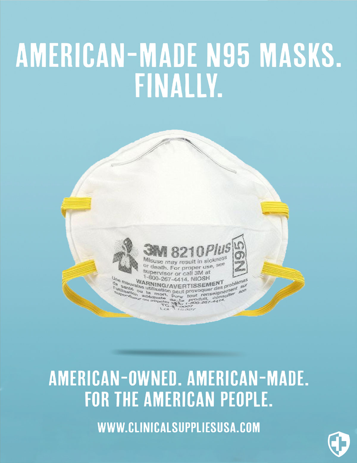 American-Made N95 Masks Finally. American-Owned. America-Made. For The American People. www.clinicalsuppliesusa.com